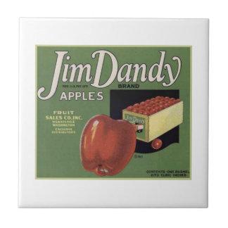 Jim Dandy Apples Small Square Tile