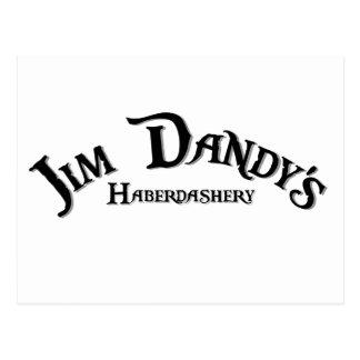 Jim Dandy's Haberdashery logo Postcard