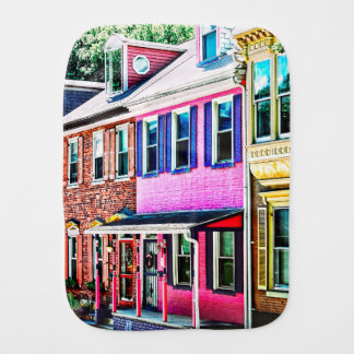 Jim Thorpe Pa - Colorful Street Burp Cloth