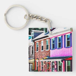 Jim Thorpe Pa - Colorful Street Key Ring