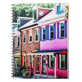 Jim Thorpe Pa - Colorful Street Notebook