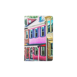 Jim Thorpe Pa - Colorful Street Pocket Moleskine Notebook