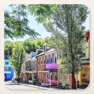 Jim Thorpe PA - Quaint Street Square Paper Coaster