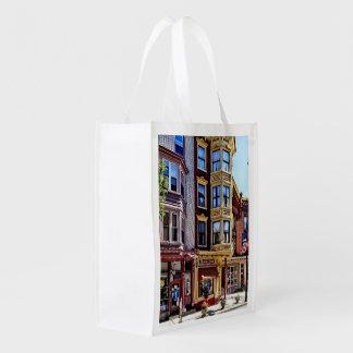 Jim Thorpe Pa - Shops Along Broadway Reusable Grocery Bag