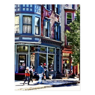 Jim Thorpe Pa - Window Shopping Postcard