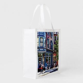Jim Thorpe Pa - Window Shopping Reusable Grocery Bag