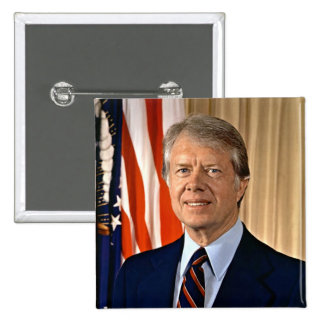 Jimmy Carter 15 Cm Square Badge