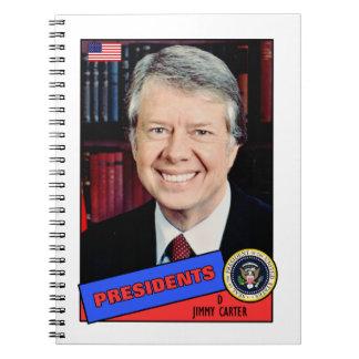 Jimmy Carter Baseball Card Spiral Note Books