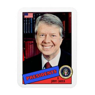 Jimmy Carter Baseball Card Vinyl Magnet