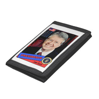 Jimmy Carter Baseball Card Tri-fold Wallet