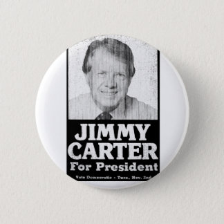 Jimmy Carter Distressed Black And White 6 Cm Round Badge