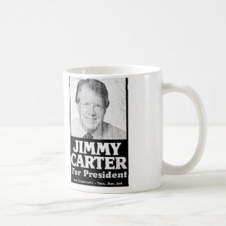 Jimmy Carter Distressed Black And White Mugs