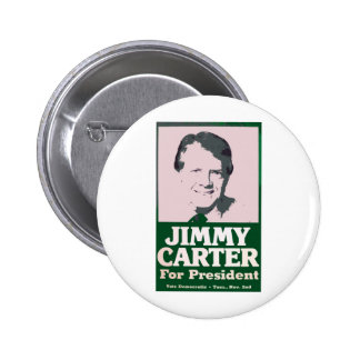 Jimmy Carter Distressed Cut Out Look 6 Cm Round Badge