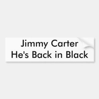 Jimmy Carter He's Back in Black Bumper Sticker