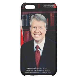 """Jimmy Carter """"Human Rights"""" Quote Gifts Cards iPhone 5C Cases"""