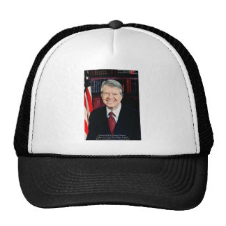 """Jimmy Carter """"Human Rights"""" Quote Gifts Tees Cards Mesh Hats"""