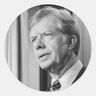 Jimmy Carter Round Sticker