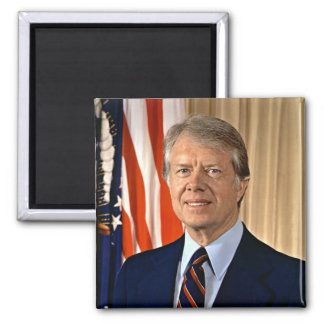 Jimmy Carter Square Magnet