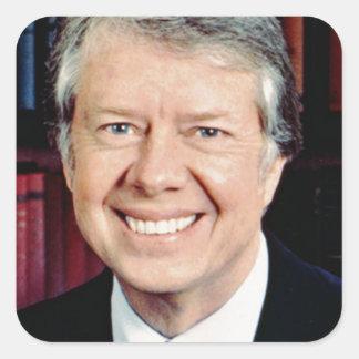 Jimmy Carter Square Sticker