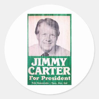 Jimmy Carter Vintage Round Sticker