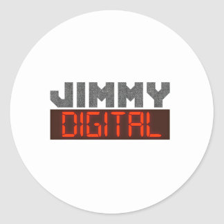 Jimmy Digital Classic Round Sticker