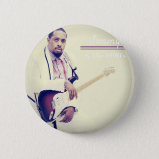 Jimmy Electric Guitar Tee 6 Cm Round Badge
