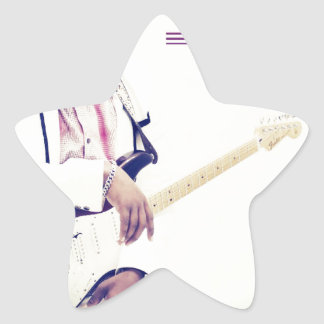 Jimmy Electric Guitar Tee Star Sticker