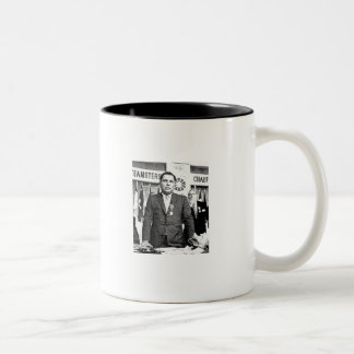 JIMMY HOFFEE, LIFE IS LIKE THE MAFIA Two-Tone COFFEE MUG