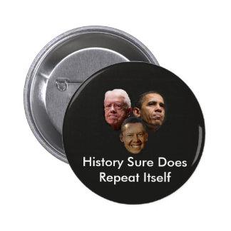 Jimmy Obama 6 Cm Round Badge