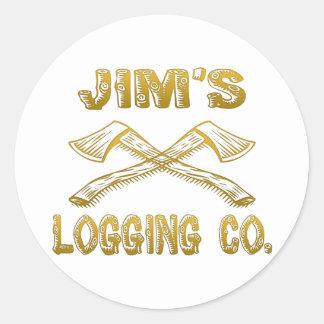 Jim's Logging Company Classic Round Sticker