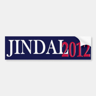 Jindal 2012 bumper sticker simple I