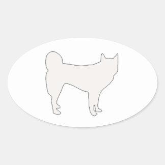 jindo color silhouette oval sticker