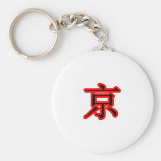 jing - capital city Black Red The MUSEUM Zazzle Gi Key Chain