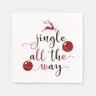 jingle all the way disposable napkins
