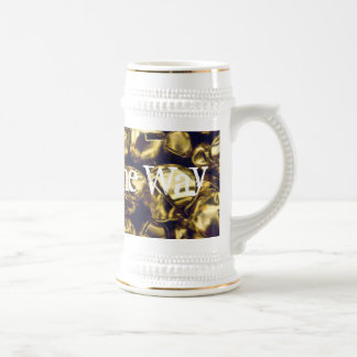 Jingle All the Way Gold Bells Stein Beer Steins