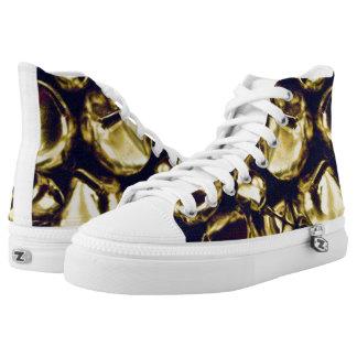 Jingle All the Way Gold ZIPZ® High Top Sneakers