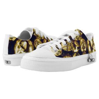 Jingle All the Way Gold ZIPZ® Sneakers