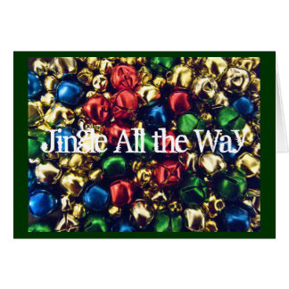 Jingle All the Way Multi-Color Bells Note Card