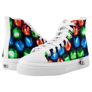 Jingle All the Way Red, Green, & Blue High Tops
