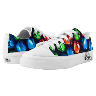 Jingle All the Way Red, Green, & Blue Sneakers