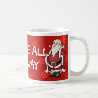 Jingle All The Way Santa And Sack Christmas Mug