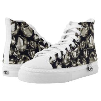 Jingle All the Way Silver ZIPZ® High Top Sneakers
