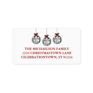 Jingle Bell Christmas Address Labels