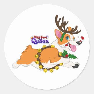 Jingle Bell Corgi- Stickers