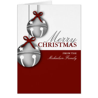 Jingle Bell Personalized Christmas Card