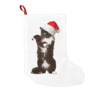 Jingle Bell Rock Cat Christmas Stocking