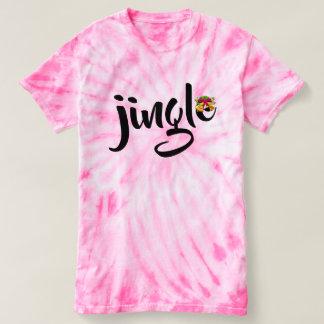 jingle bell xmas christmas Tie-Dye women's fashion T-Shirt