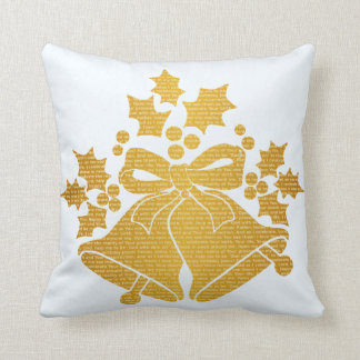 Jingle Bells and Holly for Winter Christmas Prayer Cushion