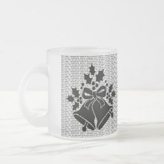 Jingle Bells and Holly for Winter Christmas Prayer Frosted Glass Coffee Mug