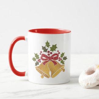 Jingle Bells and Holly for Winter Christmas Prayer Mug
